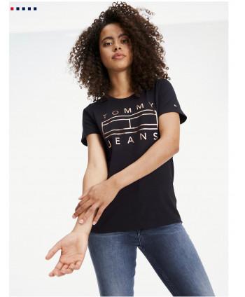 Camiseta con logo de corte...